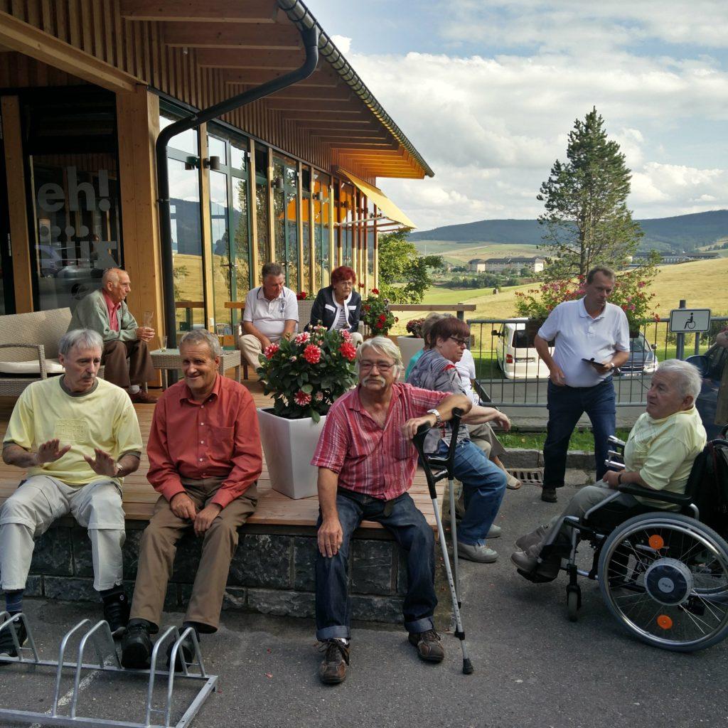 """2017 – Besuch im Appartement Hotel Jens Weißflog zum """"Kaffeeklatsch mit Jens"""""""