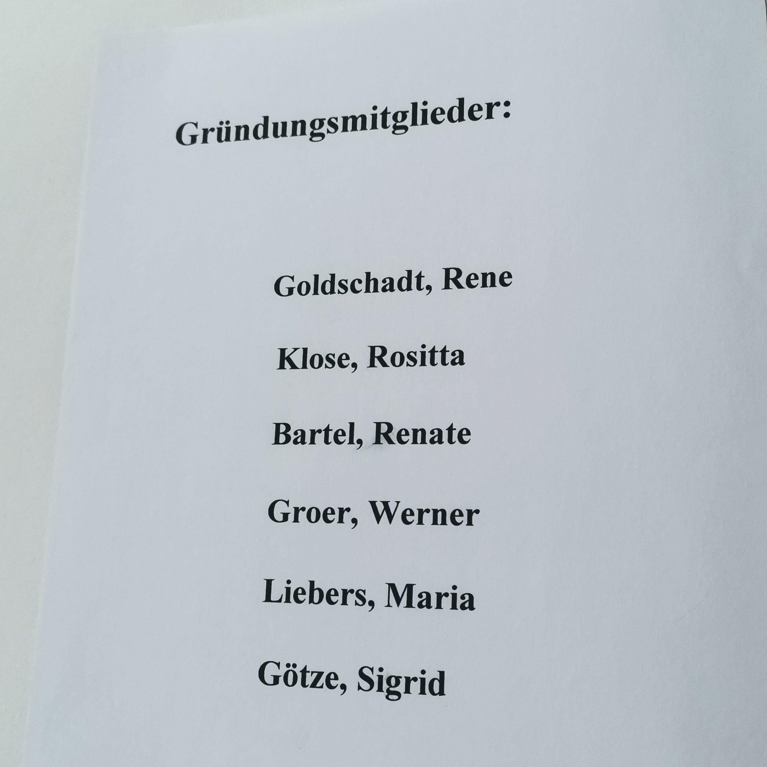 Gründungsmitglieder der RG15