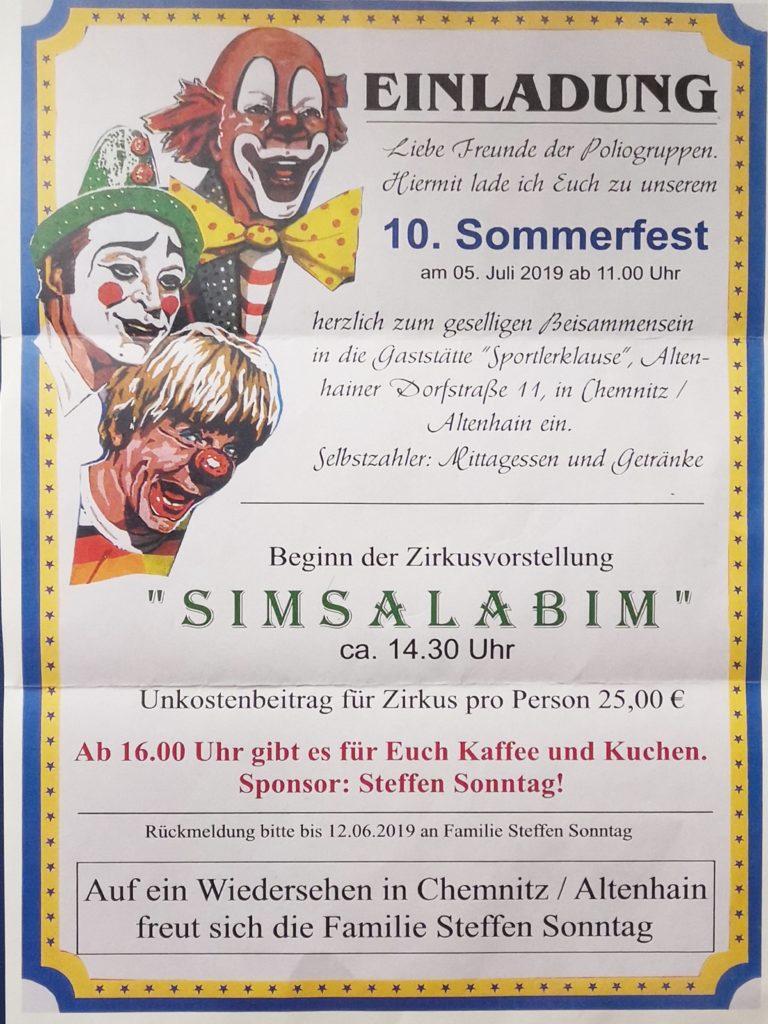 Rückblick - 2019 – 10. Sommerfest mit Simsalabim und Steffen Freitag